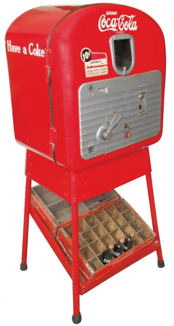 """Coca-Cola machine, Vendolator 27 """"Mailbox"""" on orig"""