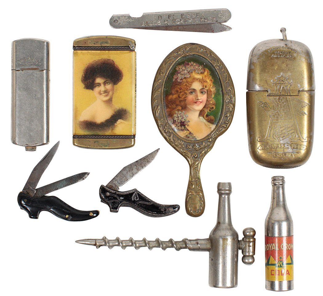 Advertising novelties (9), 2 lighters-Eveready patd