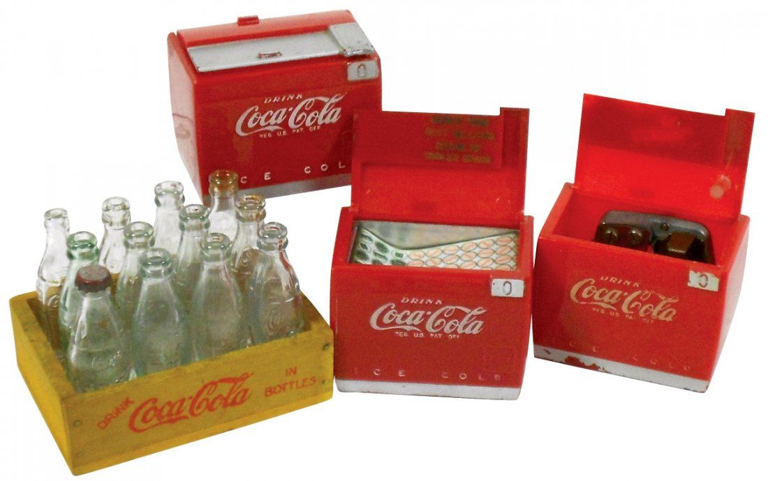 "Coca-Cola miniature coolers & 12 pack: ""Drink Coca-Cola"