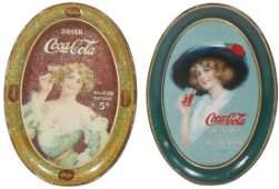 """Coca-Cola change trays (2), c.1913 """"Drink Coca-Cola"""