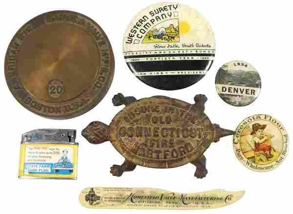 Advertising smalls (7), Hartford Ins cast iron turtle