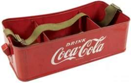 Coca-Cola vendor's carrier, metal w/orig bottle opener