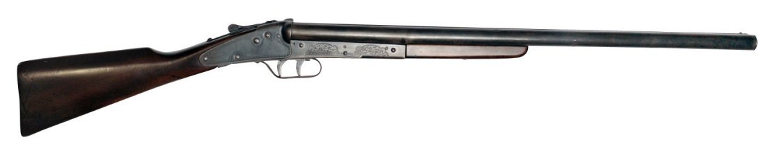 "BB Gun, Daisy No. 104 double barrel w/tubes marked ""L"""