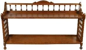 Furniture, hanging shelf, oak Stick & Ball, ball feet,