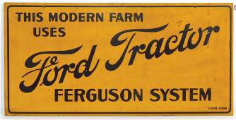 Tractor sign, Ford Tractor Ferguson System, Masonite,
