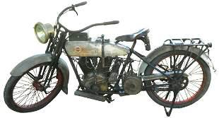Motorcycle, 1917 Harley-Davidson, Serial No. L17T9278,