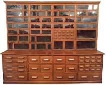 Hardware store wall cabinet, Warren Hardware Co., 2-pc