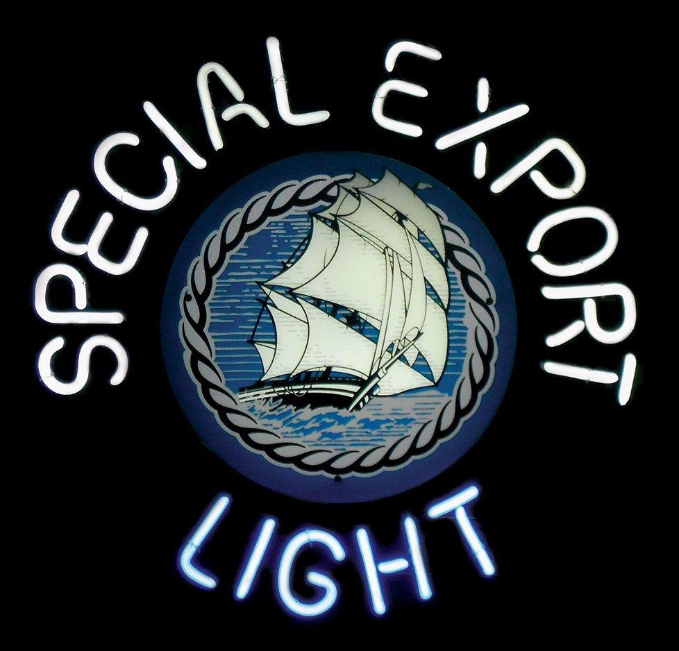 "Breweriana neon sign, ""Special Export Light,"" NOS cond,"
