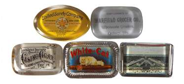 Advertising paperweights 5 WhiteCat Cigars Casubi