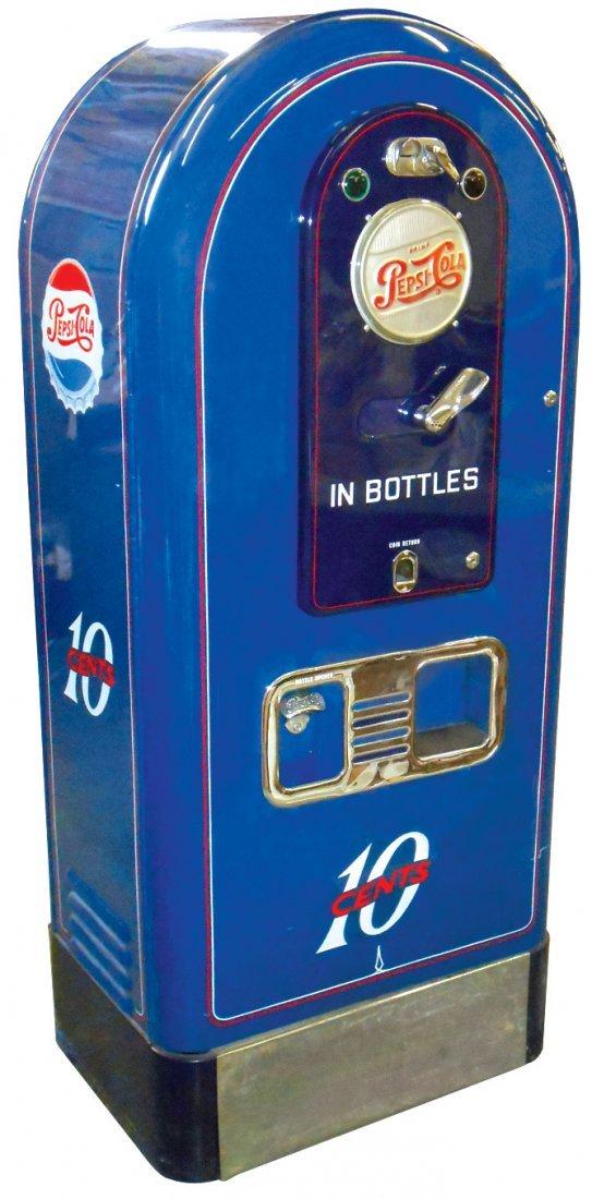 Pepsi-Cola machine, Jacobs, 10 Cent w/round top, edge