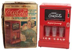 Coca-Cola toy dispenser bank in orig box, metal