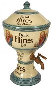 Syrup dispenser, Hires Ugly Boy, ceramic urn-shape