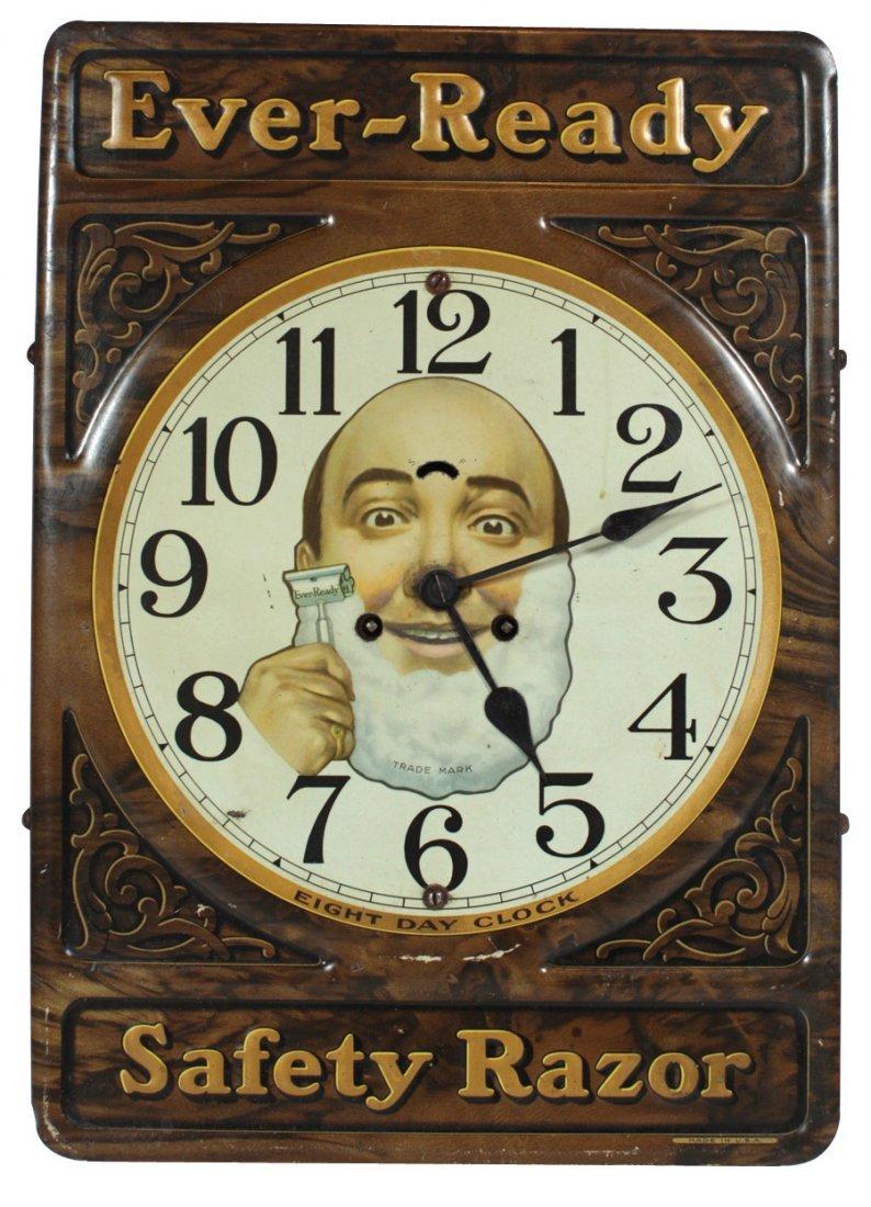 Barber shop advertising clock, Ever-Ready Safety Razor