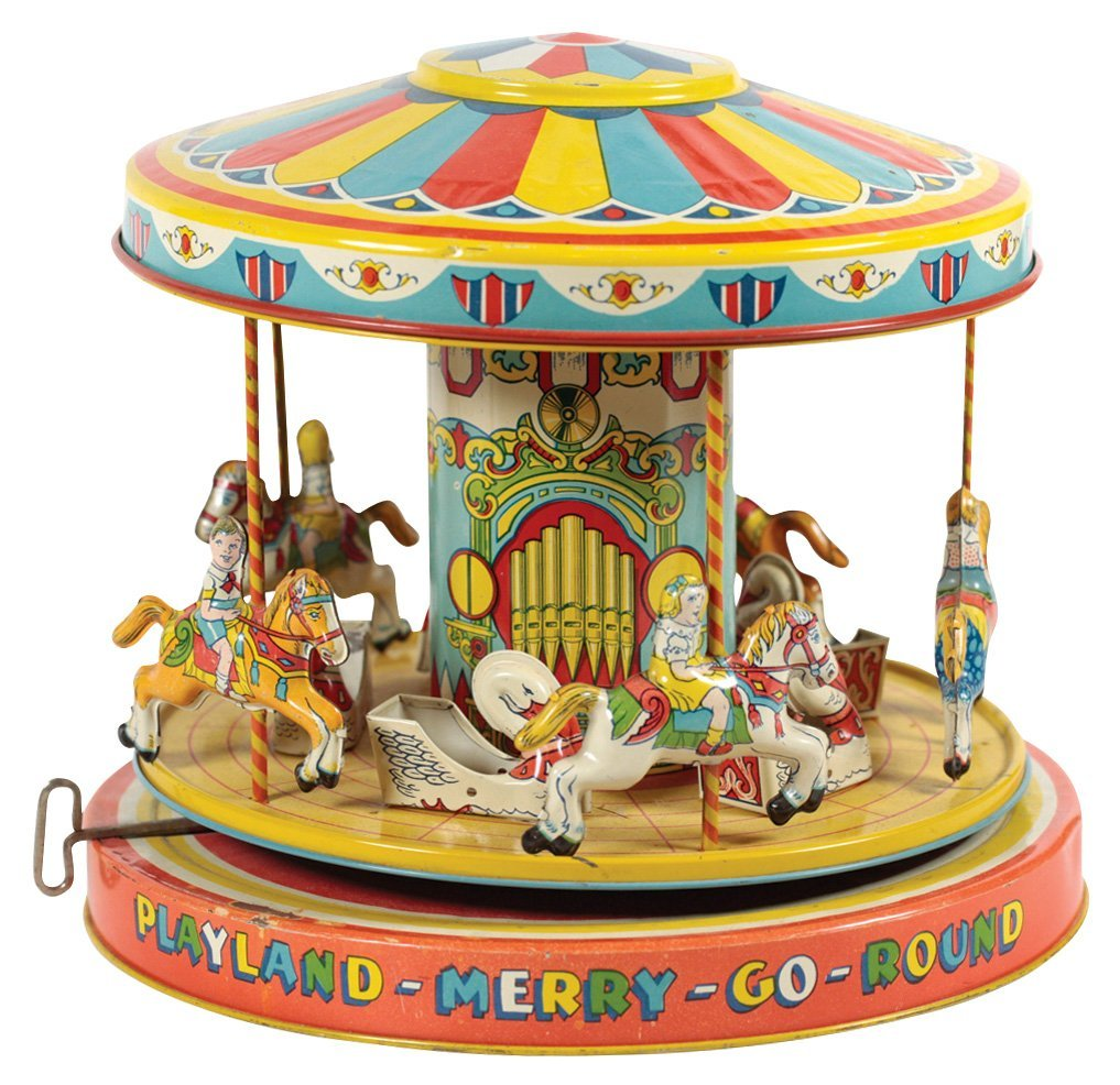 Toy, J. Chein No. 385 Playland-Merry-Go-Round in orig