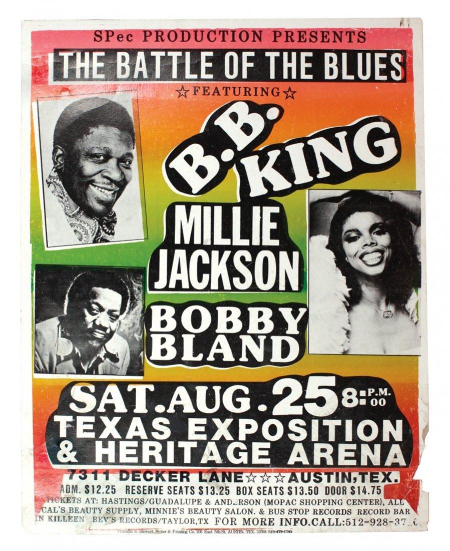 Concert poster, BB King, Millie Jackson & Bobby Bland