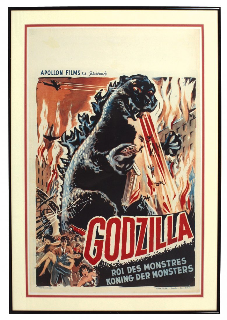 Movie poster, vintage Godzilla by Apollon films from