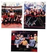 Autographed photos 3 Star Trek cast signed photos