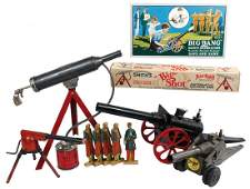 Toys 5 Smiths Big Shot machine gun metal worig