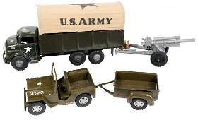 Toys 2 Marx US Army truck wcanvas top  plastic