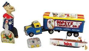 Toys (4), all Popeye, KFS Inc-Tim Hearst Blow Me Down