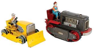 Toys 2 Showa tractor  Linemar bulldozer both