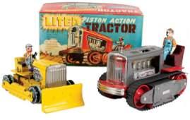 Toys 2 Linemar bulldozer  Lited Piston Action