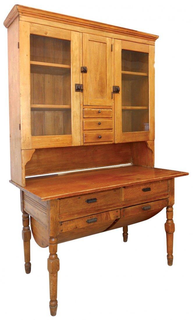 Furniture, possum-belly kitchen cupboard, pine & other