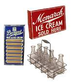 Soda fountain items 3 Monarch Ice Cream 2sided