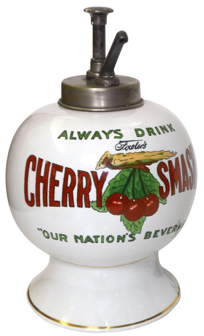 Soda fountain syrup dispenser, Fowler's Cherry Smash,