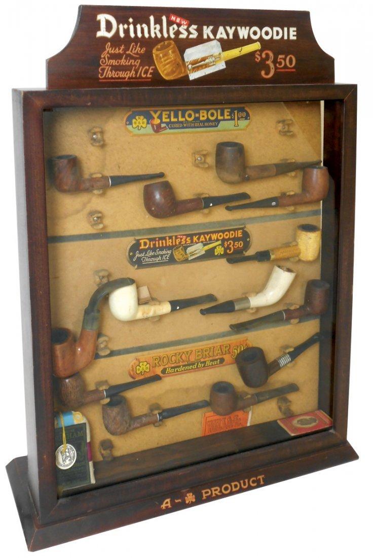 Tobacco store display, Drinkless Kaywoodie Pipes,