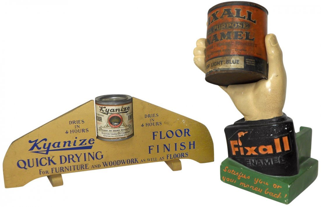 Hardware store paint displays (2), Fixall Enamel