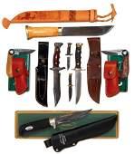 Knives (6), J. Marttiini-Finland w/sheath & box, lg