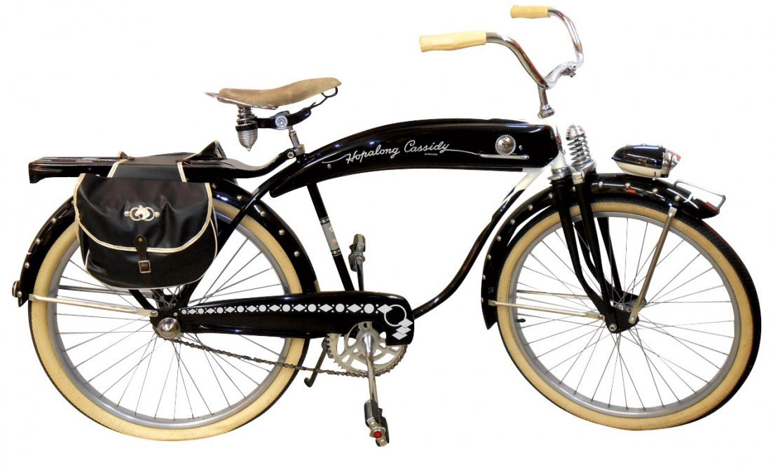"""Bicycle, Hopalong Cassidy w/saddlebags & """"Hoppy"""""""