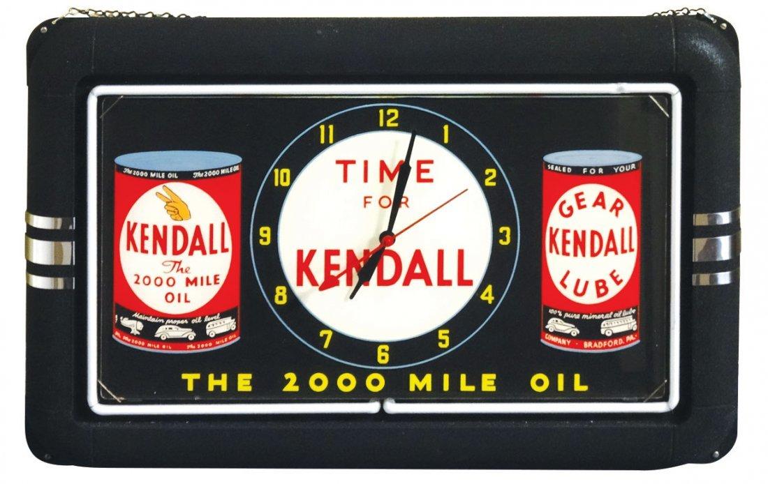 Petroliana, clock, Kendall-The 1000 Mile Oil, early