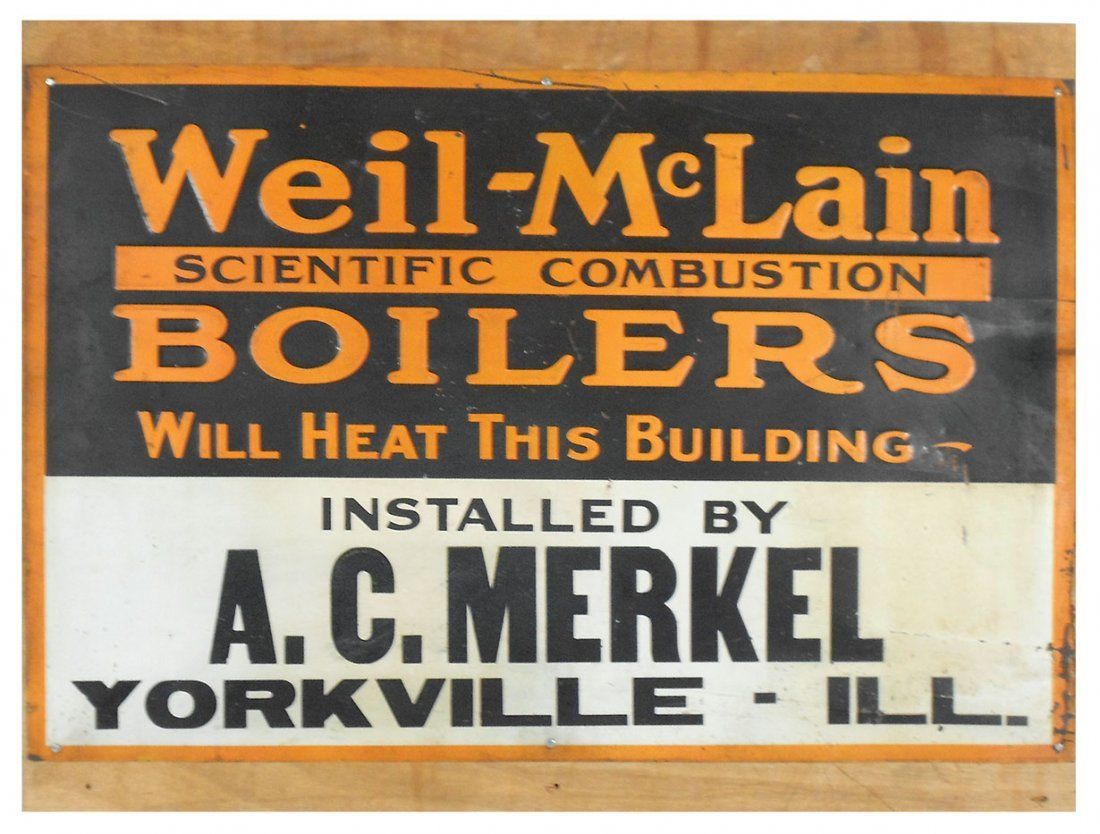 Advertising sign, Weil-McLain Boilers installed by A.