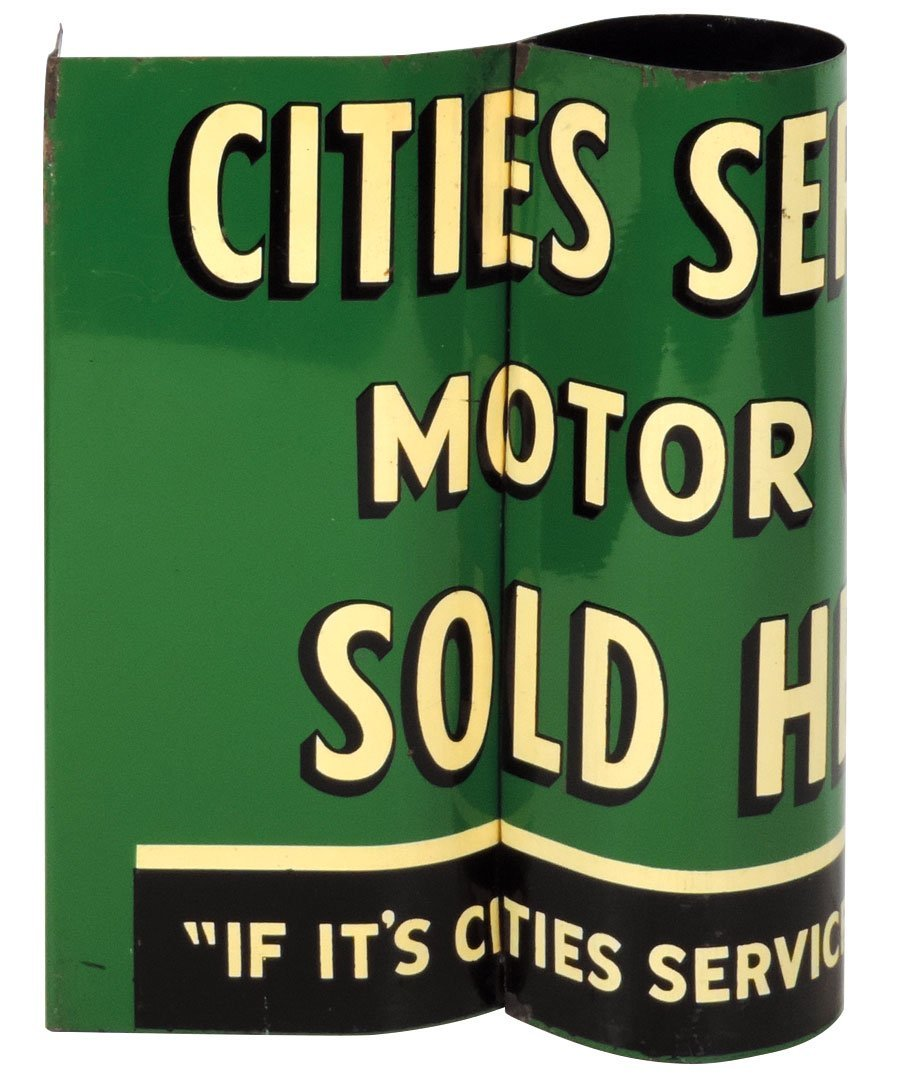 Petroliana, sign, Cities Service Motor Oil Sold Here,