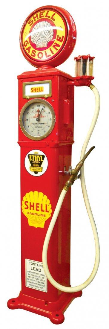"Petroliana, gasoline pump, Bowser clock face, ""Bowser"