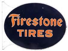 Automobilia, sign, Firestone Tires, 2-sided diecut