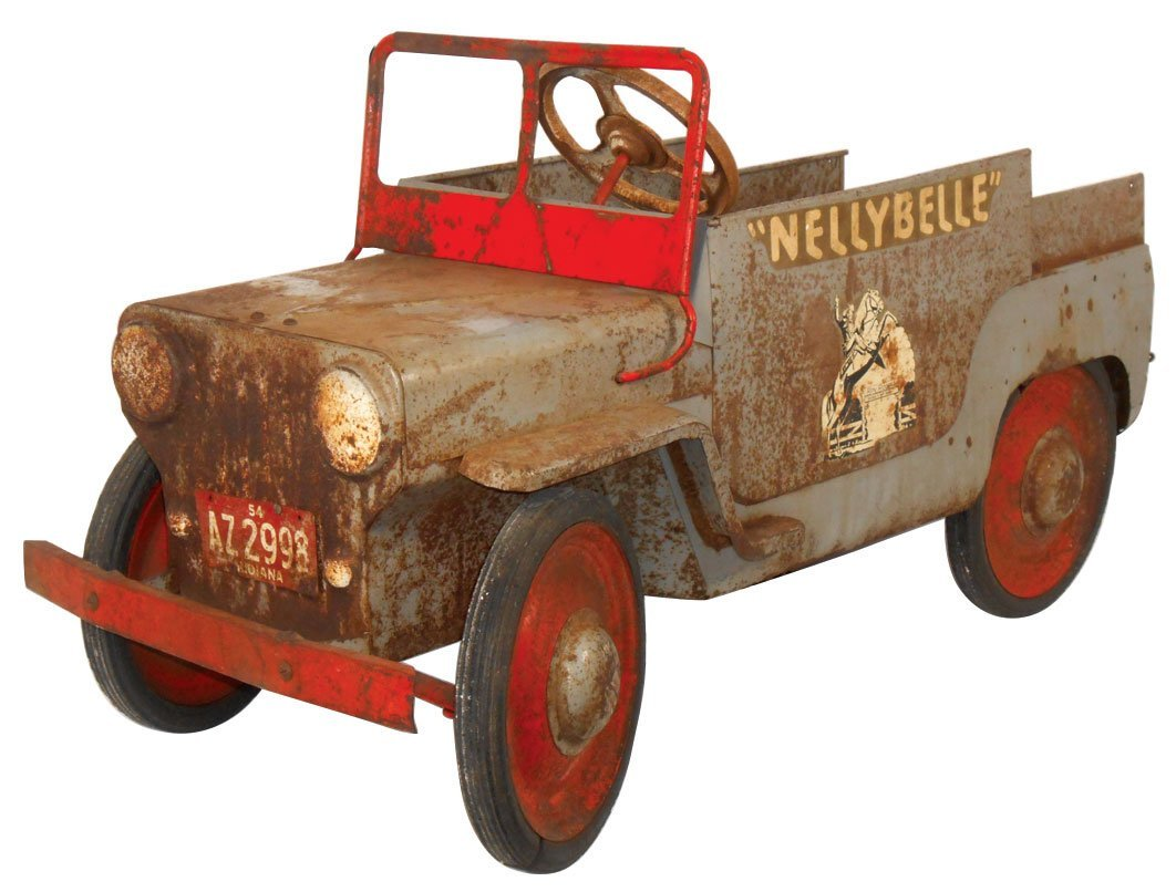 "Child's pedal car, Roy Rogers ""Nellybelle"" jeep,"