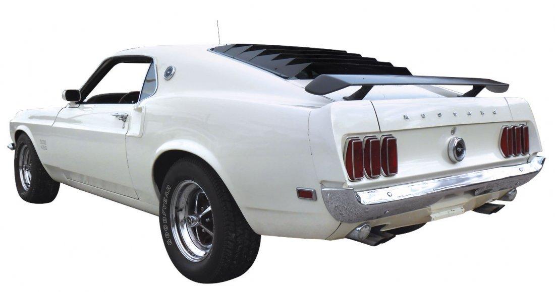 Automobile, 1969 Mustang Boss 429.  Wimbledon white - 3