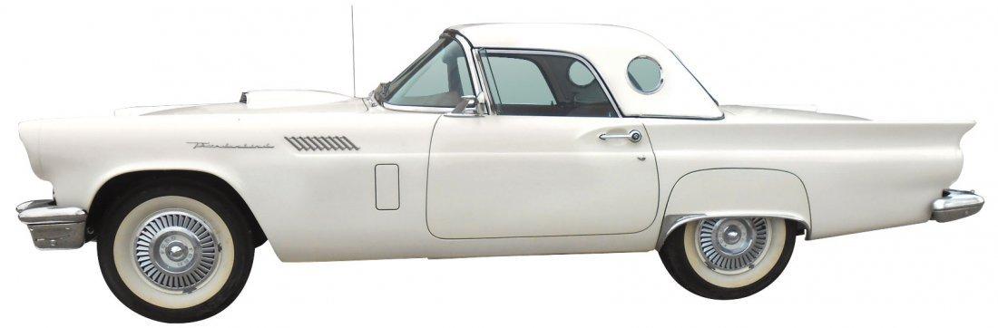 """Automobile, 1957 Ford Thunderbird Convertible. Rare """"C"""""""