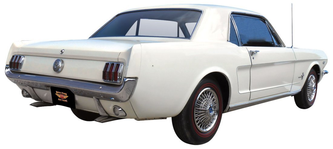 Automobile, 1966 Ford Mustang Coupe.  Wimbledon white, - 3