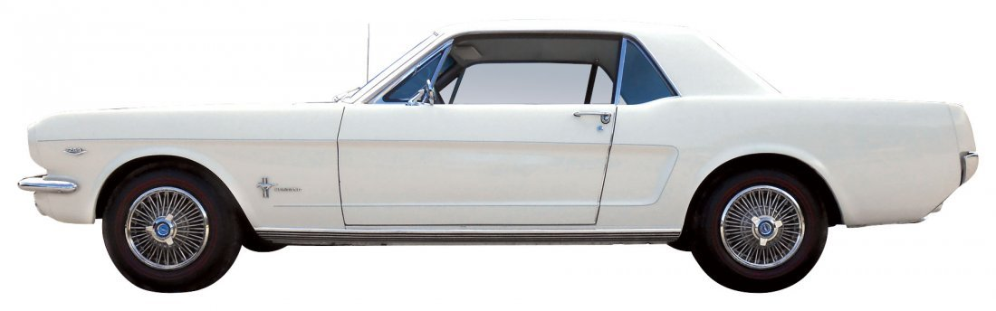 Automobile, 1966 Ford Mustang Coupe.  Wimbledon white, - 6