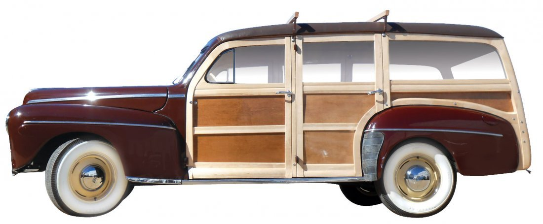Automobile, 1942 Ford Super Deluxe Woody.  Moselle