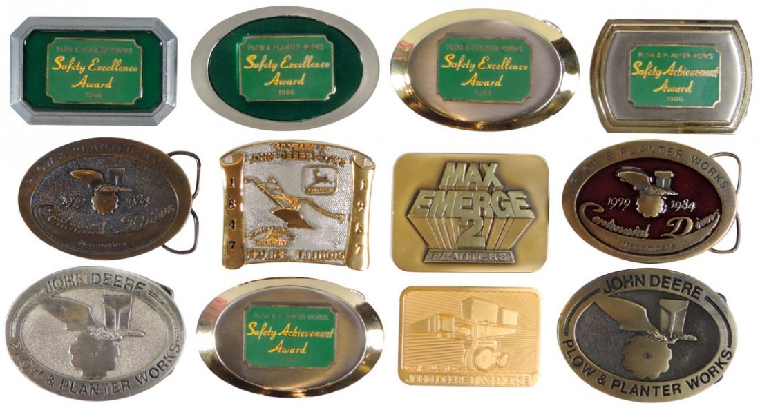 John Deere belt buckles (12), Plow & Planter Works: