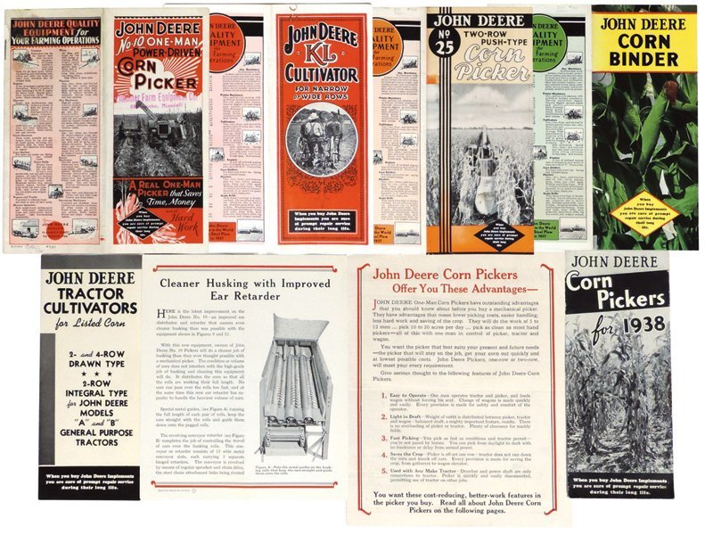 John Deere brochures & pamphlets (8), No. 10 One-Row
