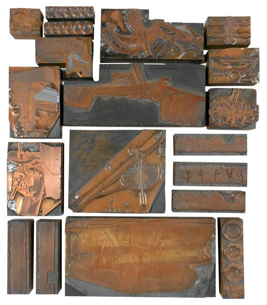 John Deere print blocks (19), implements & machines,