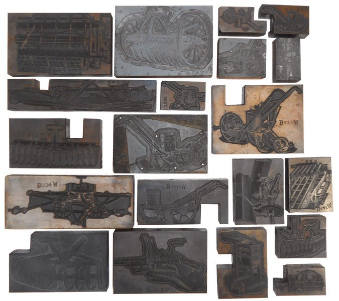 John Deere print blocks (20), implements & machines