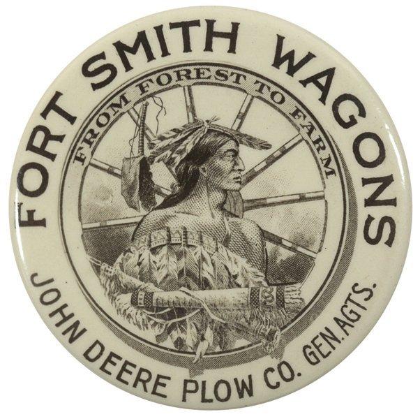 John Deere pocket mirror, Fort Smith Wagon Co., John
