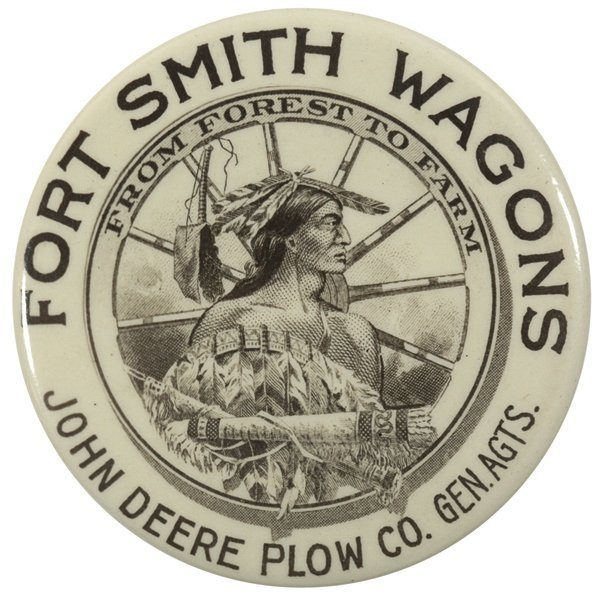 John Deere pocket mirror, Fort Smith Wagon Co., John